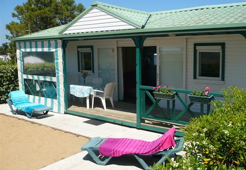 indoor terrace, chalet 6 people sea view, camping tulips, la faute sur mer, la tranche sur mer, heated pool, beach access